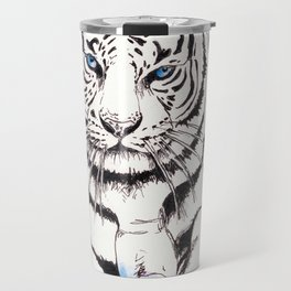 White Tiger Travel Mug