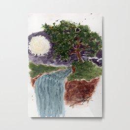 Yggdrasil y la Corona Lunar.  Metal Print