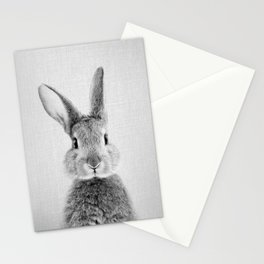 Rabbit - Black & White Stationery Cards