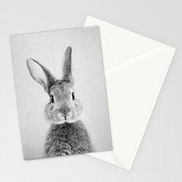 Rabbit - Black & White Stationery Cards