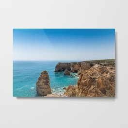 Beach at Lagoa, Algarve, Portugal II Metal Print