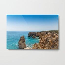 Beach at Lagoa, Algarve, Portugal II Metal Print