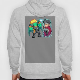 Teddy & Billy, Gay Nerds in Love - Pixel Art Hoody