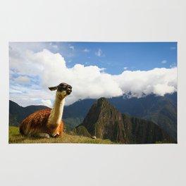 Llama in Machupicchu Rug