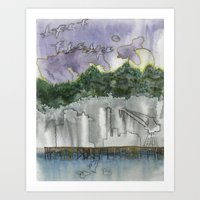 Swan Island Art Print