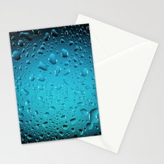 Stylish Cool Blue water drops Stationery Cards