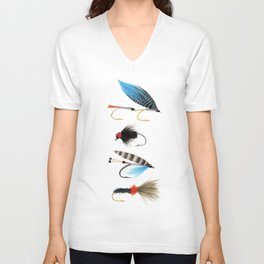 Fly fishing Unisex V-Neck