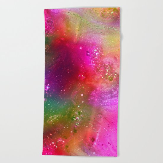 crazy glitter Beach Towel