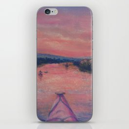 Racing the Sunset iPhone Skin