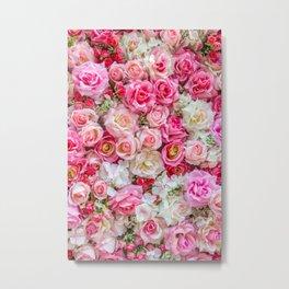 Pink & Red Roses Metal Print