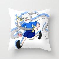 finn Throw Pillows featuring Finn by dartty