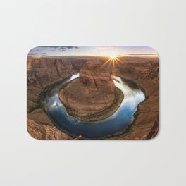 Grand Canyon National Park Horseshoe Bend At Sunset Arizona United States Ultra HD Bath Mat