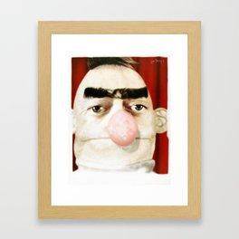 Photobooth Bert Framed Art Print