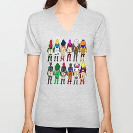 Superhero Butts - Girls Superheroine Butts LV Unisex V-Neck