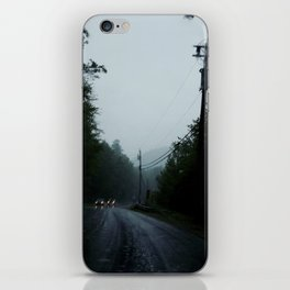 black road rain iPhone Skin