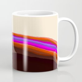 Orange, Purple, and Cream Abstract Coffee Mug