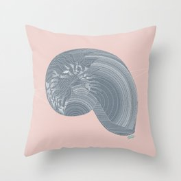 """Gastropoda"" Throw Pillow"