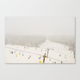 powder day Canvas Print