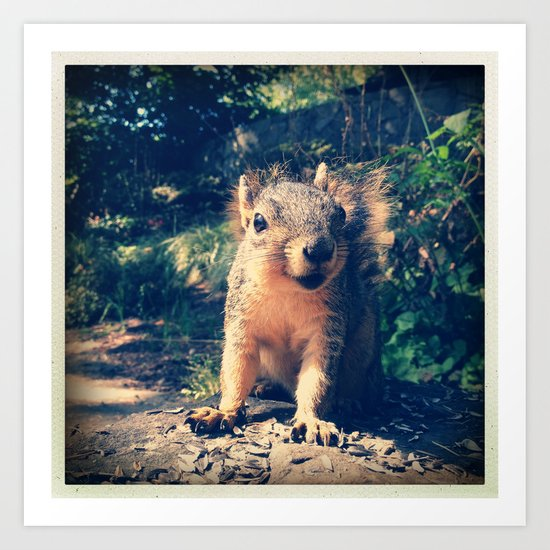 Happy to See You Art Print