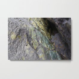 Marbled Natural Ocean Rock Texture Metal Print