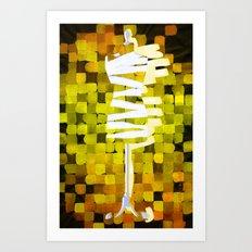 Dummy Run #1, yellow Art Print