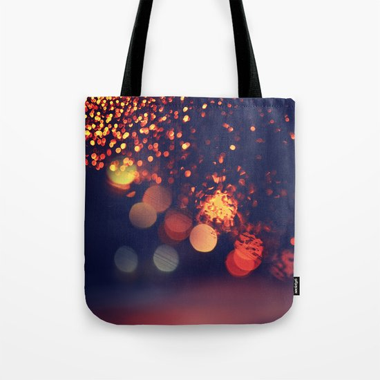Driving In The Rain Tote Bag