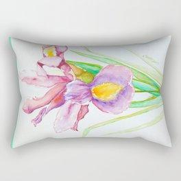 Single Iris Rectangular Pillow