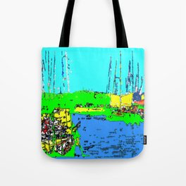 Impression of St. Tropez harbor Tote Bag