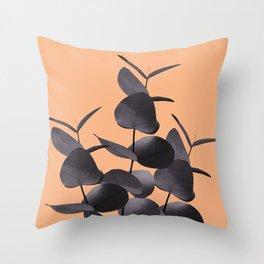 Eucalyptus Leaves Black Orange #1 #foliage #decor #art #society6 Throw Pillow