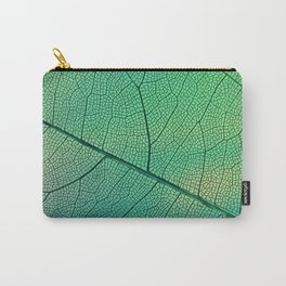 Abstract transparent leaf veins with green Venas de hojas transparentes abstractas con verde Carry-All Pouch
