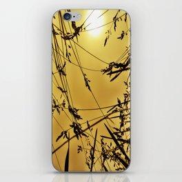 wheat silhoette iPhone Skin