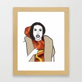 Haute Dog Framed Art Print