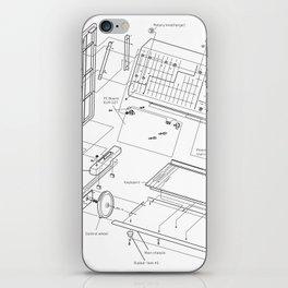 Korg MS-20 - exploded diagram iPhone Skin
