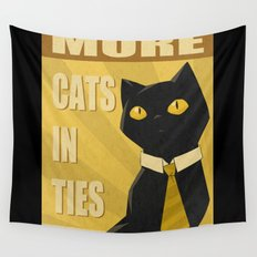 Cats in Ties - PSA Wall Tapestry