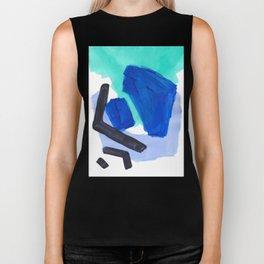 Ocean Torrent Whirlpool Teal Turquoise Blue Biker Tank