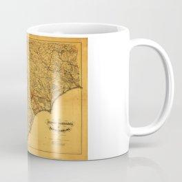 Map of North & South Carolina (1865) Coffee Mug