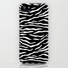 Black and White Jungle Big Cat Tiger Stripes iPhone Case