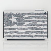 dwight schrute iPad Cases featuring America Feather Flag by Sitchko Igor
