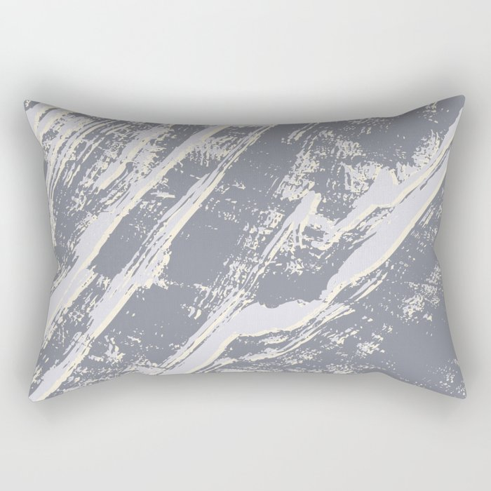 shades of gray marble effect Rectangular Pillow