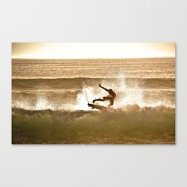 Joel Parko Parkinson Late Afternoon Surf, Hossegor- France - 2013 Canvas Print