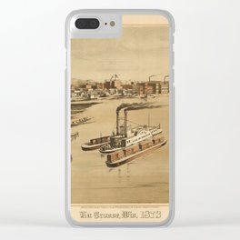 La Crosse Wisconsin 1873 Clear iPhone Case