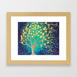 Lemony Blossoms - Tree Framed Art Print