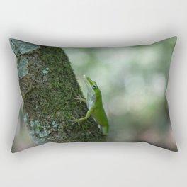 Green Anole Rectangular Pillow