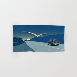 """Soviet Modernism: """"Seagull"""" road mark at the northern entry of Yerevan Hand & Bath Towel"""