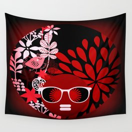 Afro Diva : Sophisticated Lady Red Wall Tapestry
