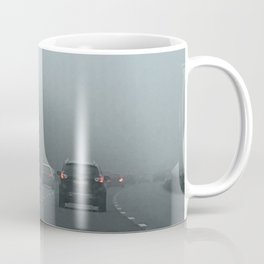 Misty Morning Drive Coffee Mug