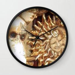 Venetian Masks Wall Clock