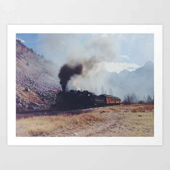 Mountain Train Art Print