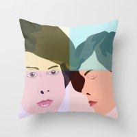 tegan and sara Throw Pillows featuring TEGAN AND SARA  by NURUL A.