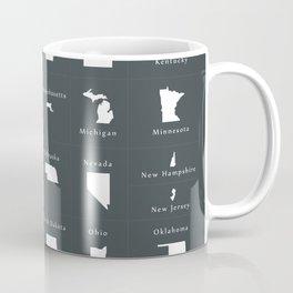 Federal states of the USA overview Coffee Mug